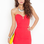 Serena Sweetheart Dress - Red in  What&#x27;s New at Nasty Gal