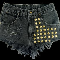 Yohkoh short studded cut off shorts by Omeneye on Etsy