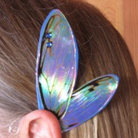 Fairy Ear Wings in Blue Cicada by artlandish on Etsy