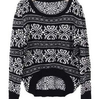 *Free Shipping* Black Vintage Knitting Sweater One Size