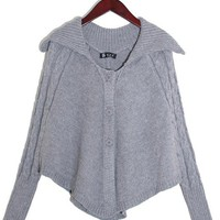 Ladies Grey Knitting Sweater One Size FZ9402g