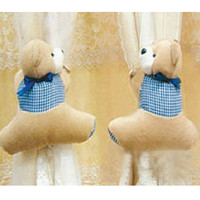 Corean Fashion Super Cute Grid Bear Shapes Curtain Belt (Pair) China Wholesale - Sammydress.com