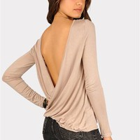 Cross Back Top - Mocha