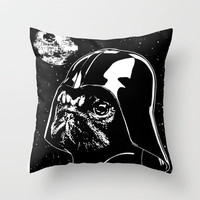 Pug Vader Throw Pillow by Pugbit | Society6