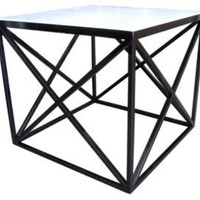One Kings Lane - Geometric Chic - Stela Jardin Double X Low Side Table, Black