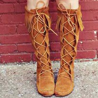 Minnetonka Fringe Boots- FOLLLOW ME AND ENJOY!