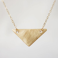 Brushed Gold Arrow  14k Gold Filled Chain & Raw by MadeByMaru