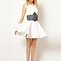 River Island Skater Dress with Lace Applique at asos.com
