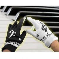 Electric Piano Gloves Built-in Speaker