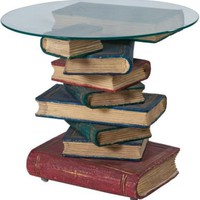 One Kings Lane - Antique & Art Exchange - Vintage Book Table, Red