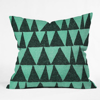 "Nick Nelson Analogous Shapes 1 Throw Pillow - Indoor / 20"" x 20"" / Pillow Cover Only"