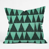 "Nick Nelson Analogous Shapes 1 Throw Pillow - Indoor / 26"" x 26"" / Pillow Cover Only"