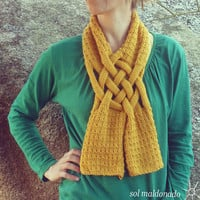 Knit Scarf PDF Pattern  Weave PDF ebook how to easy Knit by bysol