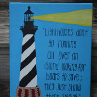 Original Canvas Painting - Lighthouse