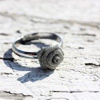 Supermarket: Silver Bloom Ring from Diament Jewelry