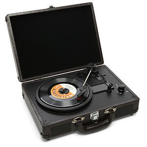 ThinkGeek :: Mini Rechargeable USB Turntable