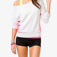 Neon Colorblocked Pullover