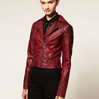 ASOS | ASOS Faux Leather Biker Jacket at ASOS