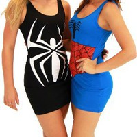 My Associates Store - Spider-Man Girl Juniors Costume Tunic Tank Dress
