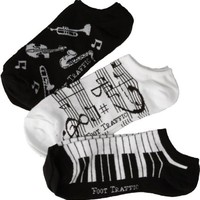 Women's Music Ankle Socks 3-Pack