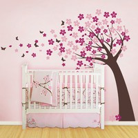 Cherry Blossom Tree with Butterflies  Vinyl Wall by SimpleShapes