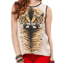 Papaya Clothing Online :: BEADED TIGER PRINT TOP