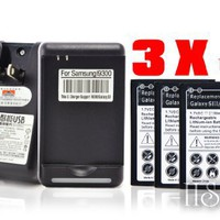 HaoJetSo Original 3x 2300mAh Battery for Samsung Galaxy S 3 S3 SIII i9300   Dock Wall Charger   HSI