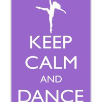 Rikki KnightTM Keep Calm and Dance On - Violet Color White Hard Case Cover for Apple iPhone® 4