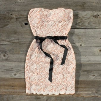 Ribbons & Lace Party Dress, Sweet Women's Country Clothing