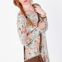 Floral Subtlety Mini Crossbody Purse - $35.00 : ThreadSence.com, Your Spot For Indie Clothing  Indie Urban Culture