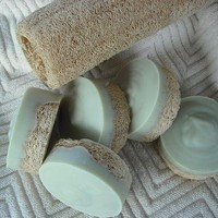 Peppermint / Tea Tree Loofah Foot Soap / Scrub Soap / Cold Process / Goats Milk Soap