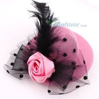Fashion Fabric Hat&Flower Feather Hair Barrette at Online Cheap Fashion Jewelry Store Gofavor