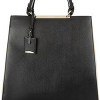 Jil Sander | Nashira leather and canvas tote | NET-A-PORTER.COM