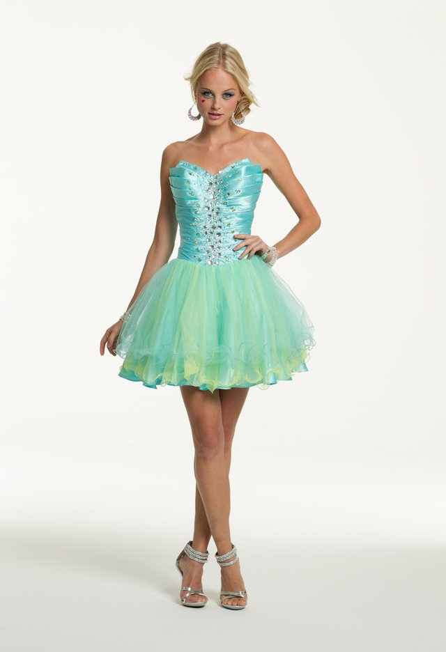 Prom Dresses 2013 - Short Strapless Tulle from Camille La Vie