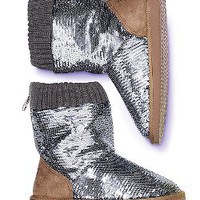 Bling Faux-fur Bootie - Victorias Secret PINK - Victoria's Secret