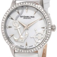 Stuhrling Original Women's 520.1115P7 Vogue Audrey Verona Del Mar Swiss Quartz Mother-Of-Pearl Swar