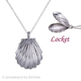 Annaleece Hidden Treasure, Locket - Sea Necklace