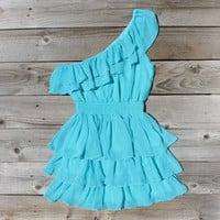 River's Mist Dress in Turquoise, Sweet Women's Country Clothing