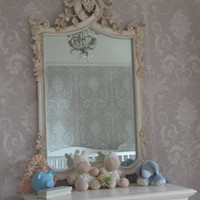 Classical White Carved Mirror - Sweetpea & Willow London