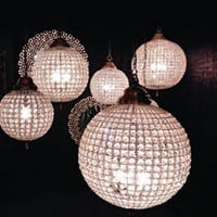 Globe Chandeliers - Pewter/Silver - Sweetpea & Willow London
