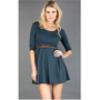 GD4159 Teal Belted 3/4 Sleeve Dress and Womens Fashion Clothing  Shoes - Make Me Chic