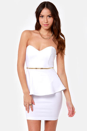 Wishy Posh-y Strapless White Dress