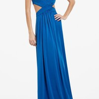 BCBGMAXAZRIA - JORDANA LONG CUTOUT DRESS