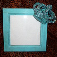 ZTA ZETA PICTURE FRAME TURQUOISE CROWN BLING