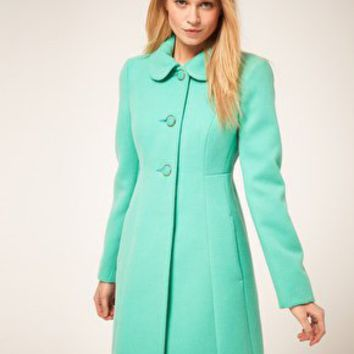 Oasis | Oasis Colored 60's Coat at ASOS