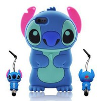 Amazon.com: Blue Disney 3d Stitch Movable Ear Flip Soft Case Cover for Iphone 5(16G/32GB/64GB) Xmas Gift: Cell Phones & Accessories