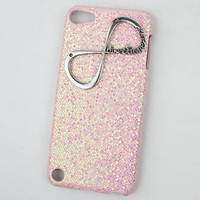 "Light Pink  Hard Case Cover With One Direction ""Directioner"" Infinity for Apple Ipod Touch 5, iPod Touch 5th,iTouch 5,iPod Touch 5"