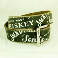 Jack Daniels® Distressed Collage Western Belt