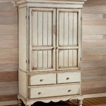 Hillsdale Furniture 1172M Wilshire Armoire, Antique White