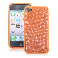The Water Cube Durable Soft TPU Case Cover for iPhone 4 (Orange)